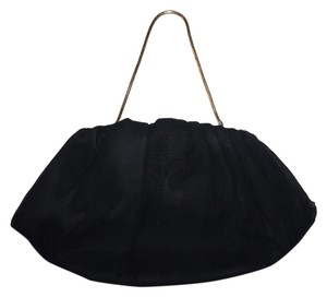 HL Vintage Silk Black Clutch