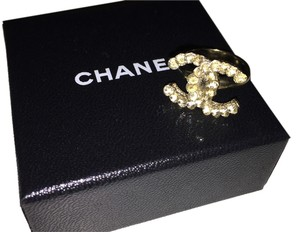 Chanel Authentic CHANEL Crystal Ring