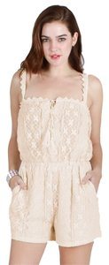Nikibiki Cream Lace Romper Dress