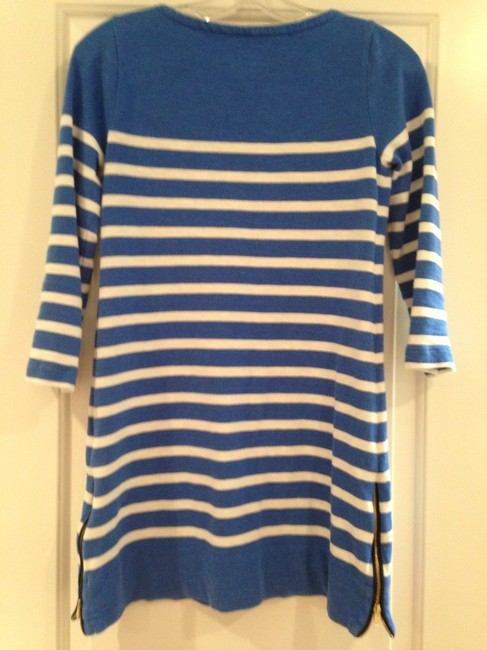 J.Crew short dress Blue & White Striped on Tradesy