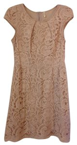 Hello Miss short dress Beige on Tradesy