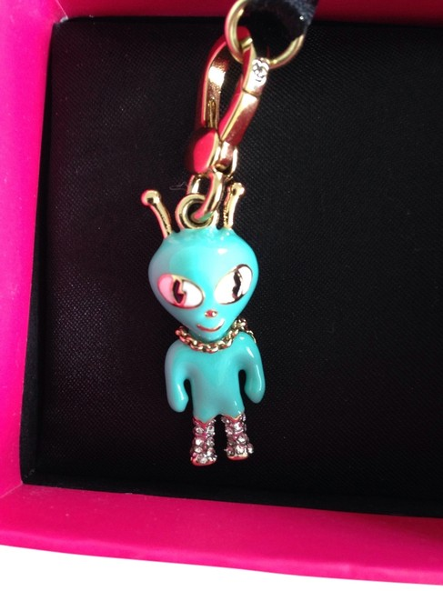 Item - Gold Turquoise Crystal Pave Box Rare New In Alien Charm