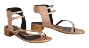 Anthropologie pied juste Metallic pink Sandals
