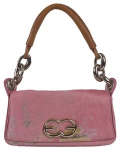 Escada Pony Hair Leather Baguette