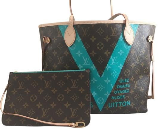 Preload https://item1.tradesy.com/images/louis-vuitton-turquoise-canvas-shoulder-bag-6174520-0-0.jpg?width=440&height=440