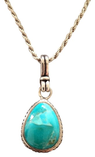 Other Sterling Silver & Genuine Turquoise Necklace
