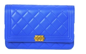 Chanel Woc Boy Flap Wallet On Chain Quilted Lambskin A80287 Cross Body Bag
