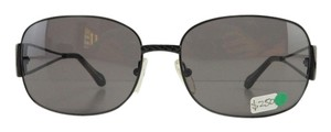 Fendi New Fendi FS 415 001 Gray Black Metal Full-Frame Sunglasses Italy 59mm