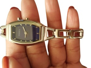 Fossil Fossil ladies watch. Brand new, never worn. Sapphire blue face.