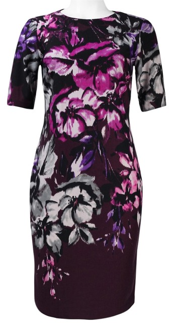 Taylor Floral Print Ponte Sheath Dress