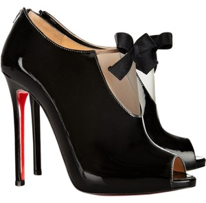 Christian Louboutin Patent Patent Leather Black Boots