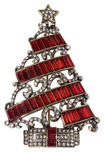 Heidi Daus HEIDI DAUS DECO THE HALLS CHRISTMAS PIN SWAROVSKI BEAUTIFUL COLLECTOR'S TREE BRAND NEW!!!