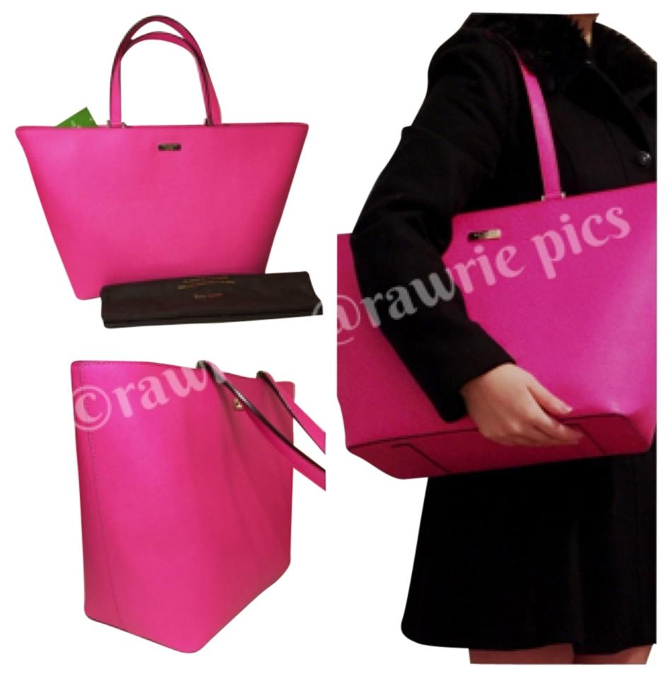 66487cdb8a74 Kate Spade Newbury Saffiano Large Jules Harmony Shoulder Pink Leather Tote