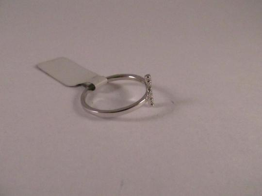 Other 14K Solid White Gold Diamond Cross Ring