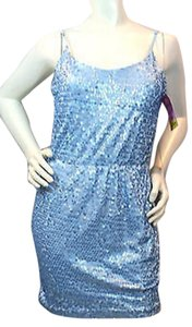 As U Wish Blue Sequins Dress