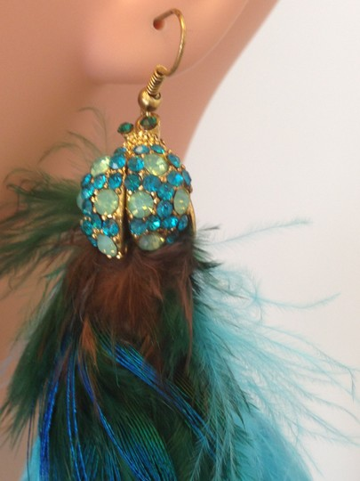 Other Crystal Feather Earrings