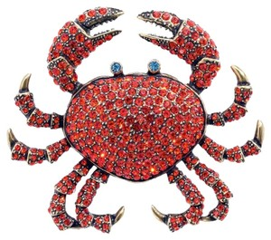 Heidi Daus HEIDI DAUS QUEEN CRAB PIN SIAM RARE EXQUISTE ONE OF A KIND SWAROVSKI CRYSTAL WOW BRAND NEW!!!