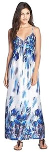 White/Blue Maxi Dress by ECI New York