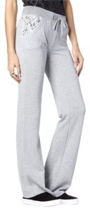 Miss Me Lace Flare Pants Metallic Silver