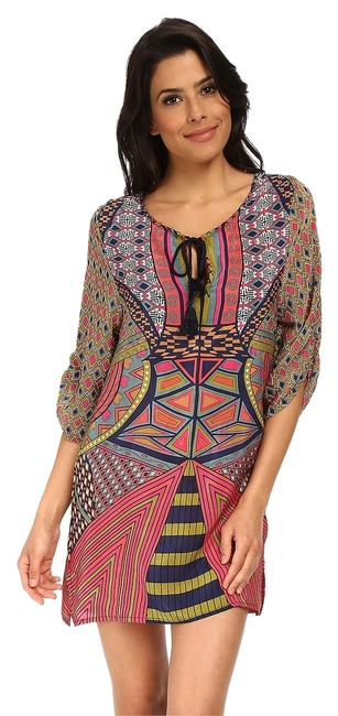 Tolani short dress Multi Color Made In India Silk Tunic Beach Vacation Cruise Wear Cover-up on Tradesy