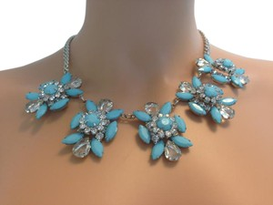 Other Aqua and Crystal Statement Necklace