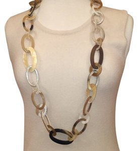 MooMoo Designs Natural Horn Circle Necklace