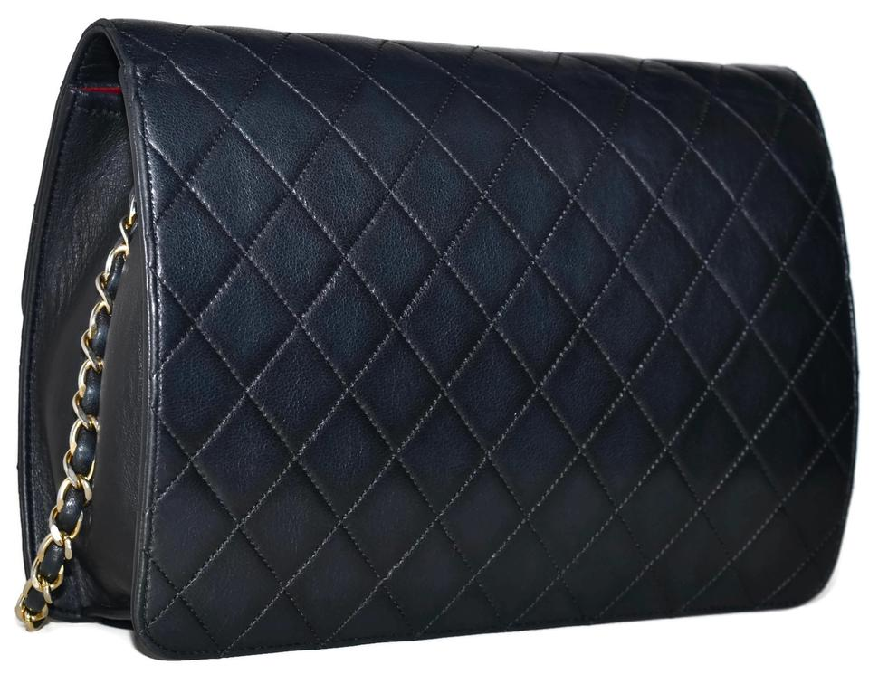61128c5a6598 Chanel Quilted Lambskin Handbag Gold Chain Made In France Black Leather  Shoulder Bag - Tradesy