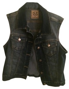 Francesca's Denim Blue Jean Vest