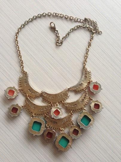Other Gold Statement necklace with warm colors
