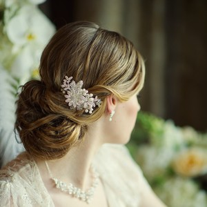 Pearl And Crystal Floral Wedding Hair Comb