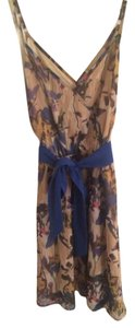 Francesca's short dress Floral Cobalt Spring on Tradesy