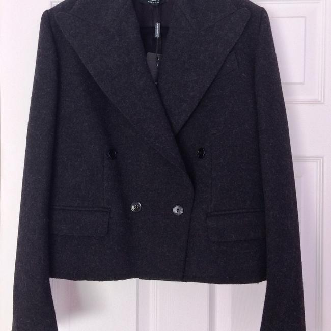 Dolce&Gabbana Wool Tweed Peacoat Dolce & Gabbana Spring Coat Gunmetal Gray Jacket