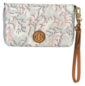 Tory Burch Multicolor print leather Tory Burch zip around continental wallet