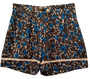 Orla Kiely Silk Bermuda Shorts Blue/green