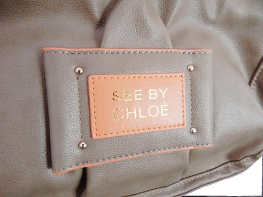 See by Chloé Logo Neutral Faux Leather Adjustable Fall Purse Shoulder Bag