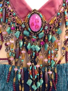 Hot Pink and Turquoise Statement necklace