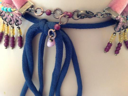 Other Hot Pink and Turquoise Statement necklace