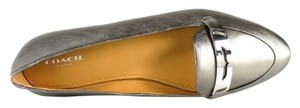 Coach Ruthie Loafers Leather Pewter Flats