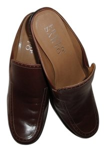 Franco Sarto Leather Brownish Mules
