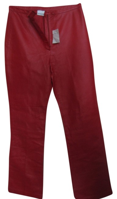 Preload https://item2.tradesy.com/images/newport-news-red-new-with-tags-leather-straight-leg-pants-size-10-m-31-6179581-0-0.jpg?width=400&height=650