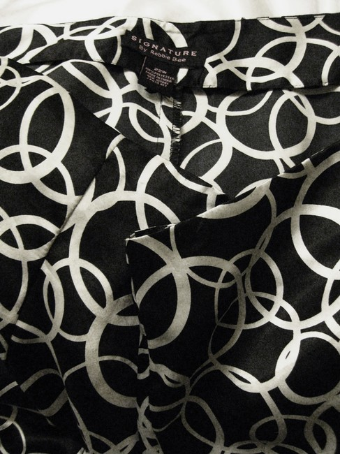 Signature by Robbie Bee Polyester Full Skirt Black & White