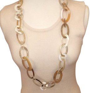 MooMoo Designs Ovals & Circles Natural Horn Necklace