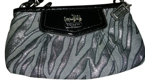 Coach Black/Gray Clutch