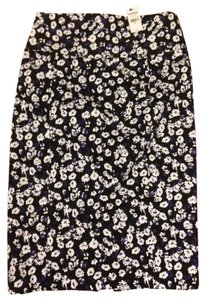 Express Pencil Skirt Black/white/purple floral