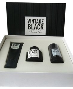 Kenneth Cole Vintage Black Gift Set Men Eau de Toilette (3.4 fl oz), Shave balm, deodorant