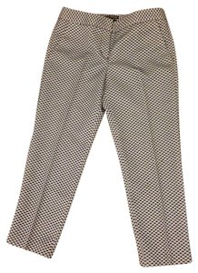 Express Textured Capri/Cropped Pants white/navy/gray