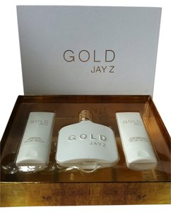 Jay Z Gold by Jay Z Gift Set Men Eau de Toilette (3.0 fl oz), shower gel, shave balm