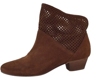 Anthropologie Suede Bootie Ankle Boot Brown Boots