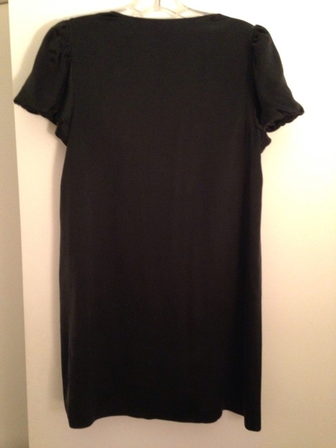 Kenneth Cole Reaction Silk Shirt Tunic Blouse Top Black