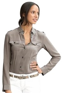 Banana Republic Button Down Button Down Shirt Taupe